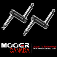 MOOER Offset crank 1/4 TS male guitar effect pedal coupler Z plug connector TWO Pieces